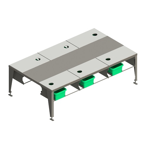 Boning table for meat processing plant