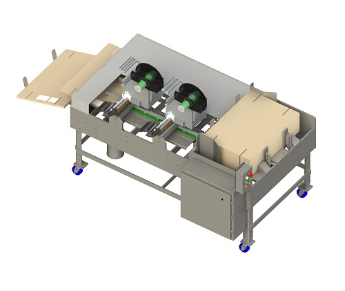 Flat Box Label Applicator for packaging industy