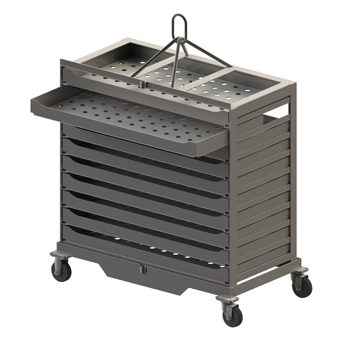 Custom carts trays baskets for the food processing industry