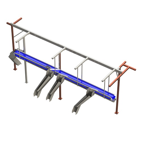 Stone custom overhead diverter conveyor